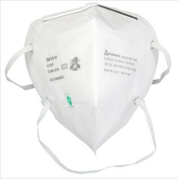 3M 9010 N95颗粒物防护口罩 头戴式独立包装