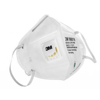 3M口罩 9001V环保自吸过滤式防颗粒物有呼气阀口罩(耳带式)