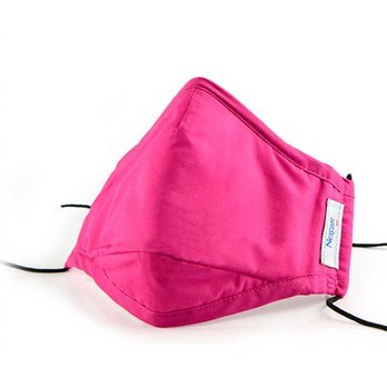 3M 舒适口罩M桃红 女士口罩透气舒适防寒保暖双效防尘